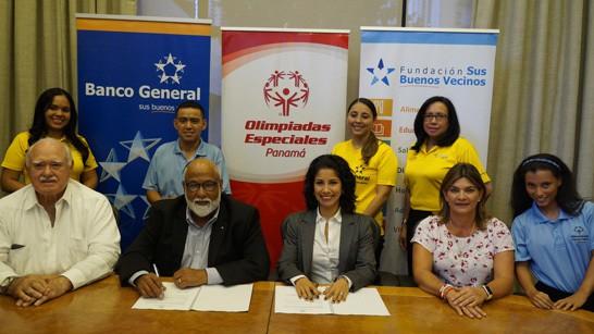 Banco General Patrocinador Fundador de Olimpiadas Especiales Panamá