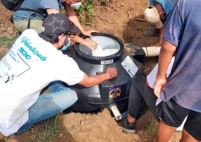 Nuevo sistema de recolección de agua en viviendas de Techo Panamá